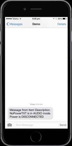 NoPowerTXT Audio Mode Reminder Notification