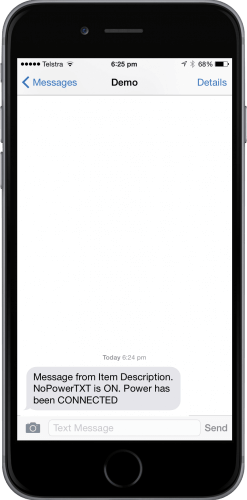 Connected Power Notification
