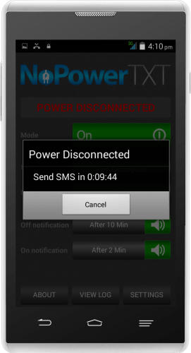 Disconnected Power Alert