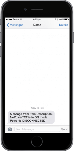 Disconnected Power Notification