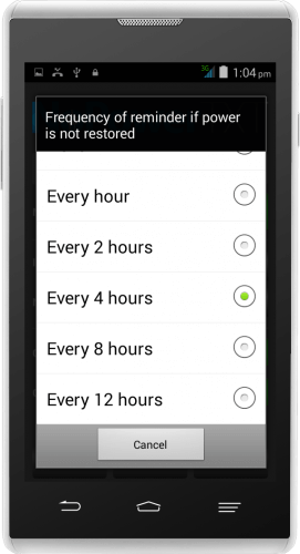 NoPowerTXT Follow Up Reminder Frequency