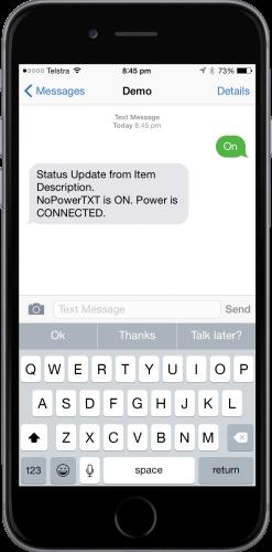 NoPowerTXT Remote Mode Notification