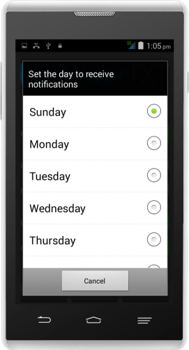 NoPowerTXT Day to Receive Notification