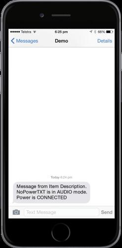 NoPowerTXT Audio Mode Reminder SMS