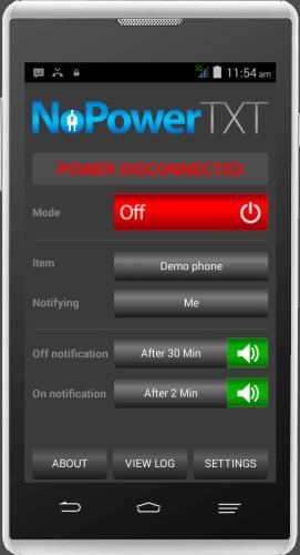 NoPowerTXT Power Disconnected Off Mode