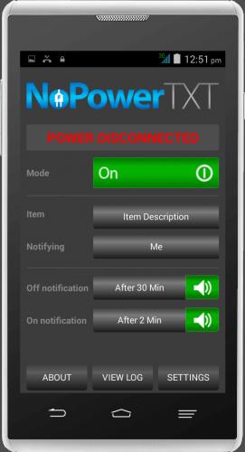 NoPowerTXT Power Disconnected On Mode